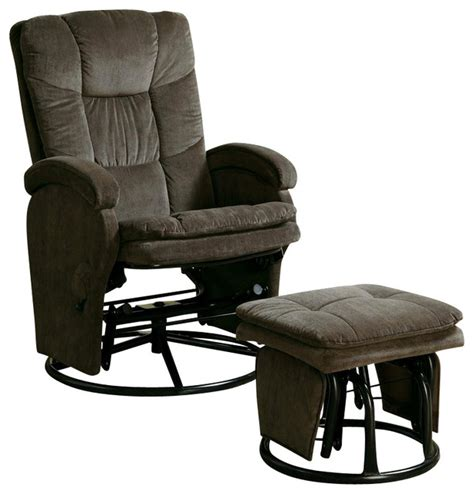 glider recliner with ottoman coaster recliners with ottomans reclining glider in