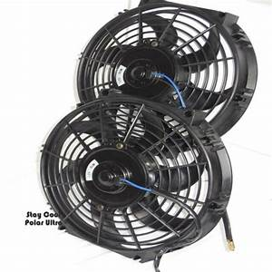 Corvette Radiator Fans Set Of Two 12 U0026quot  Electric Cooling