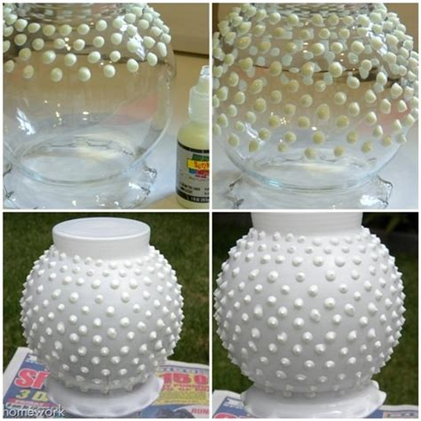 diy blogs homework a creative blog fresh look diy faux fenton hobnail milk glass
