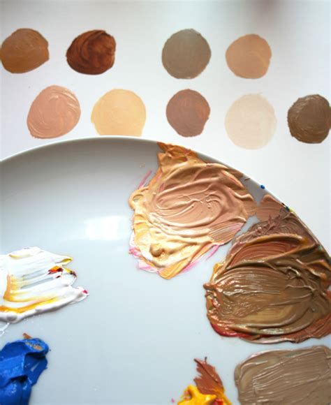 how to paint skin tones step by step primary colors