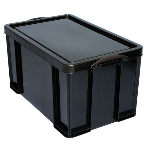 extra strong black  plastic storage box departments