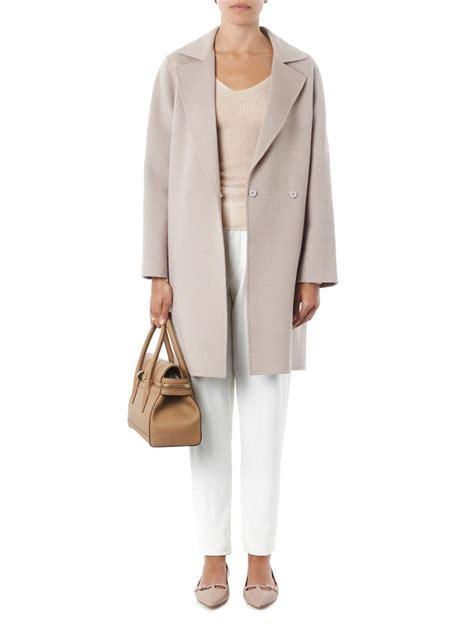 maxmara by hl lyst weekend by maxmara giselda coat in gray