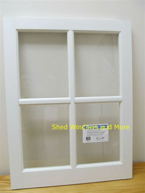 barn sash window pvc    sheds garages  white traditional style ebay