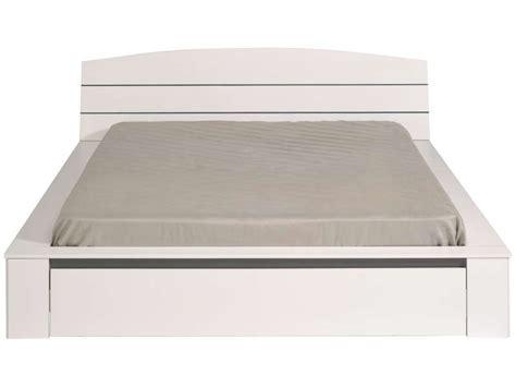 lit adulte 160x200 cm tiroir split coloris blanc