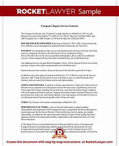computer service contract repair computer template With computer support contract template