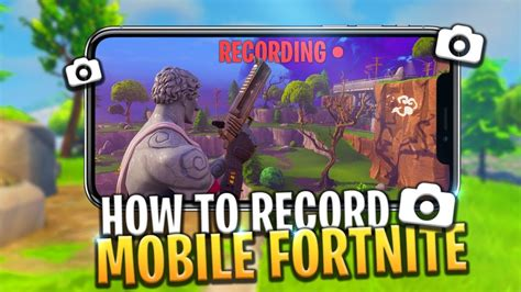 record fortnite mobile   fortnite