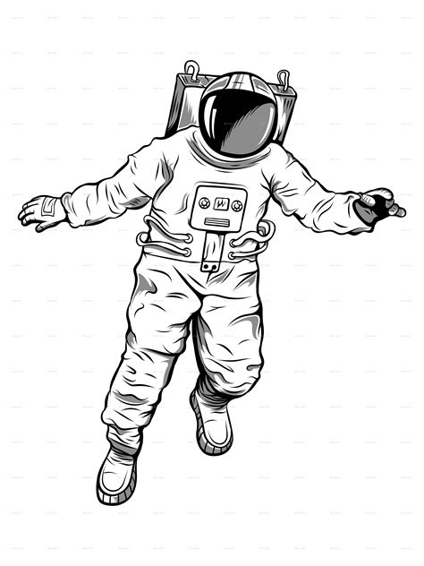 floating astronaut illustration  gdmteam graphicriver