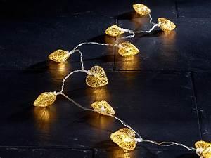 Lichtschläuche Lichterketten : lunartec herz lichterkette gold batteriebetrieben ~ Eleganceandgraceweddings.com Haus und Dekorationen