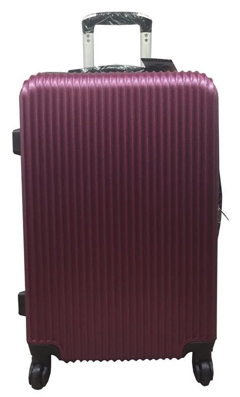 light cabin luggage shell spinner suitcase abs light luggage trolley