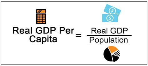 real gdp  capita definition formula calculation
