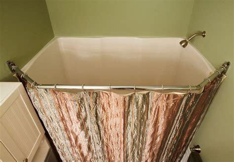 corner shower curtain rod brushed nickel stainless steel