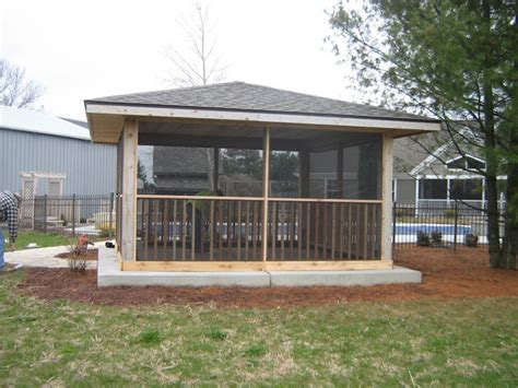 screened gazebo rustic patio milwaukee by swimming