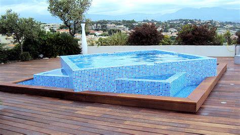 toit de piscine hors sol cool awesome amenagement piscine hors sol bois pose de