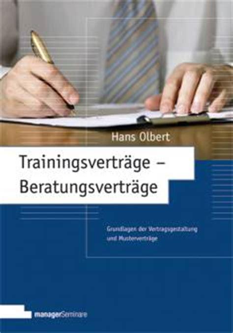trainingsvertraege beratungsvertraege grundlagen der