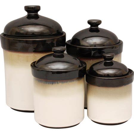 Kitchen Canister Sets Walmart by Sango 4 Canister Set Black Walmart