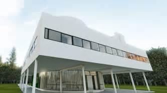 building plan villa savoye vantage interactive