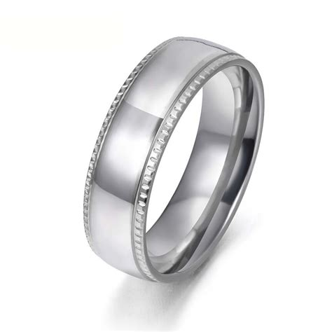 new style silver color 316l stainless steel wedding ring high quality anniversary rings jewelry