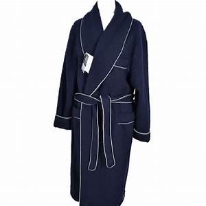 robe de chambre homme laine des pyrenees marine en stock With robe de chambre en laine des pyrenees