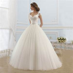 elegant satin and tulle princess ball gown wedding dresses With satin ball gown wedding dresses