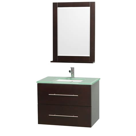 Vanity With Glass Top by Wyndham Collection Wcv00930esgr Centra 30 Inch Vanity