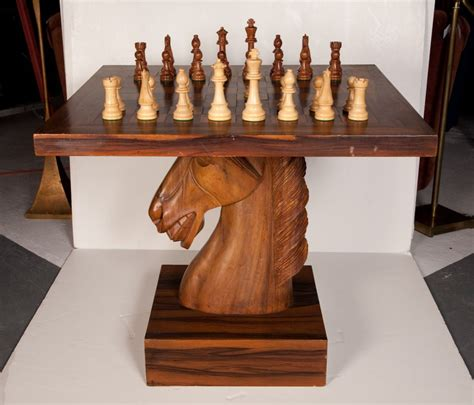 american fantasy knight chess table  stdibs