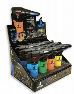 4 Pack Neon Blink Butane Torch Lighter Gun