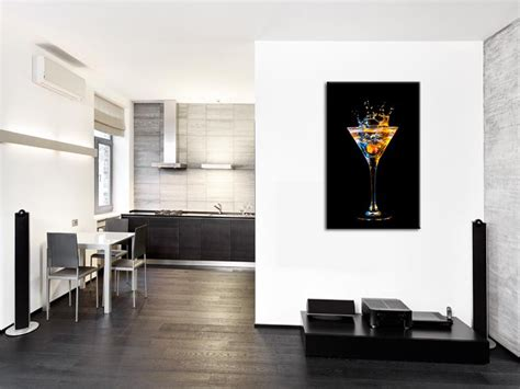 qualité cuisine leroy merlin tableau mural verre de cocktail décoration cuisine hexoa