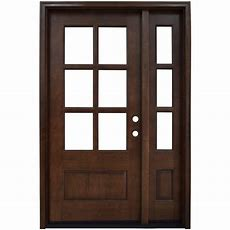 Single Door With Sidelites  Wood Doors  Front Doors