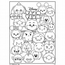 HD Wallpapers Disney Tsum Coloring Pages Black And White