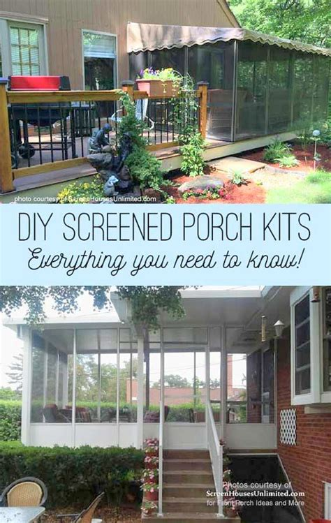 Diy Screened In Porch Kit by Screened Porch Kits Considerations And More