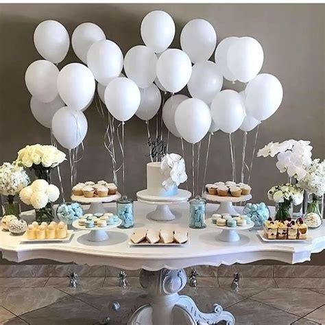 boy baptism party decor dessert table christening