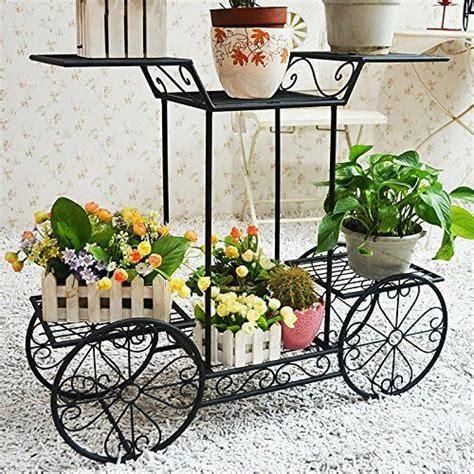 metal cart flower rack display garden tree home decor patio plant stand holder ebay