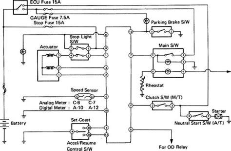 Cruise Control System Wiring Diagram Toyota Celica Supra