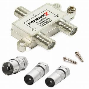 Lan Verteiler Test : premiumx switch 2 fach verteiler 5 2400 mhz sat kabel ukw dab digital umschalter 1x premiumx ~ Orissabook.com Haus und Dekorationen