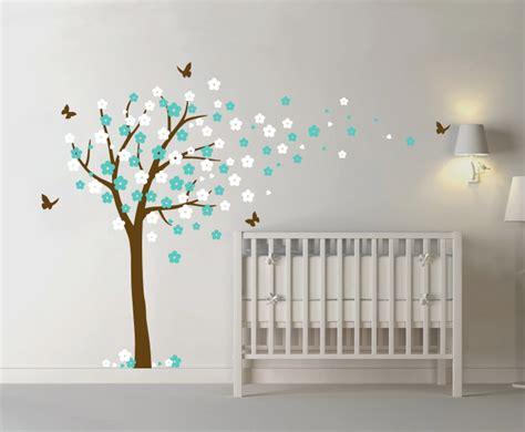 bloesemboom xl mint wit muurstickers babykamer kinderkamer