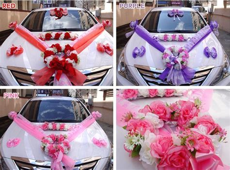 diy wedding car decorations kit bridal supplies marriage felt hangin balloons ebay
