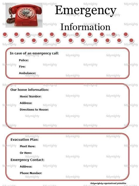 babysitter information sheets template