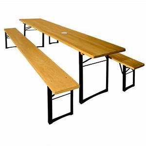 Table à Manger Pliante : table et bancs jardin pliants en bois ensemble meuble manger pliable t ~ Teatrodelosmanantiales.com Idées de Décoration
