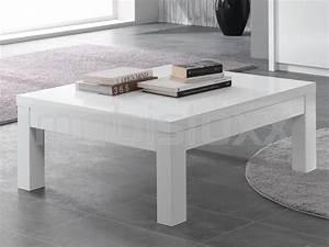 Table Carree Blanc Laqué : table basse fabrizio carr e blanc laque chez mobistoxx ~ Teatrodelosmanantiales.com Idées de Décoration