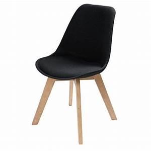Chaise Tissu Noir : chaise laquelle choisir maisons du monde ~ Teatrodelosmanantiales.com Idées de Décoration