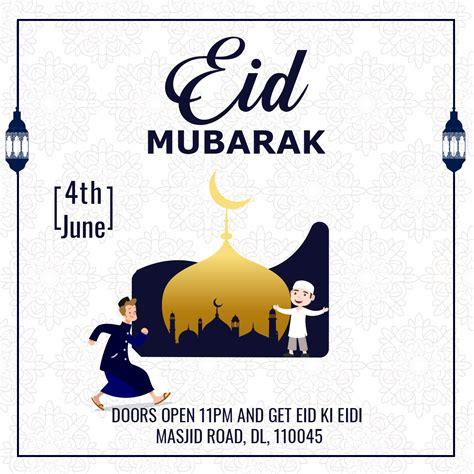 eid mubarak flyer social media post freedownloadpsdcom