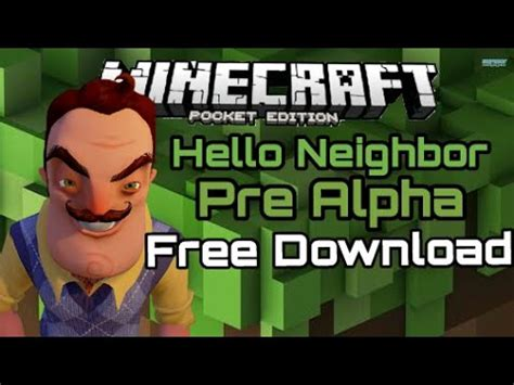 minecraft pe hello neighbor pre alpha free
