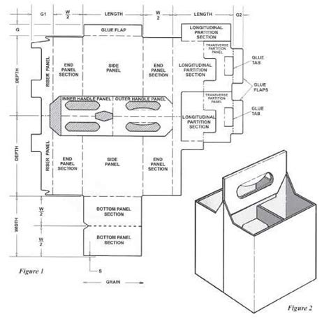 pack carrier template  auto bottom corrugated