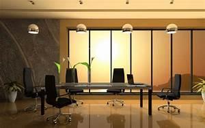 Office interior design wallpaper