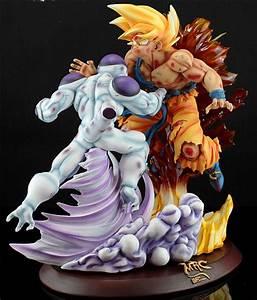 Dragon Ball MRC Super Saiyan Son Goku VS Freeza/Frieza Resin Statue SHINGEKI