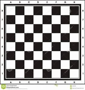 Printable Calenders Chess Board Print Play Stock Illustration