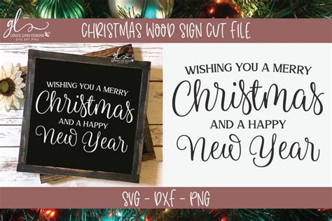 Free download christmas svg icons for logos, websites and mobile apps, useable in sketch or adobe illustrator. Wishing You A Merry Christmas And A Happy New Year - SVG