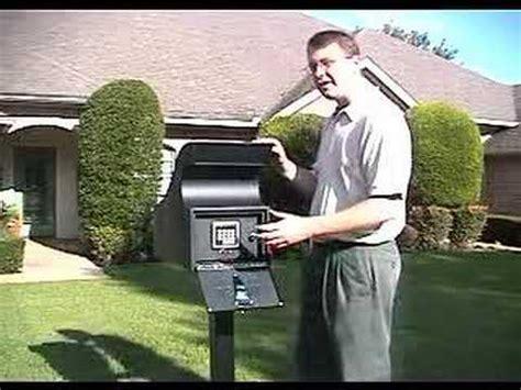 secure mail vault keyless locking mailbox  post
