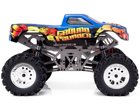 rc monster truck racing redcat racing ground pounder 1 10 scale brushed monster