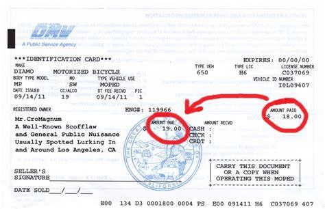 california dmv registration form 138 california registration questions motorized bicycle